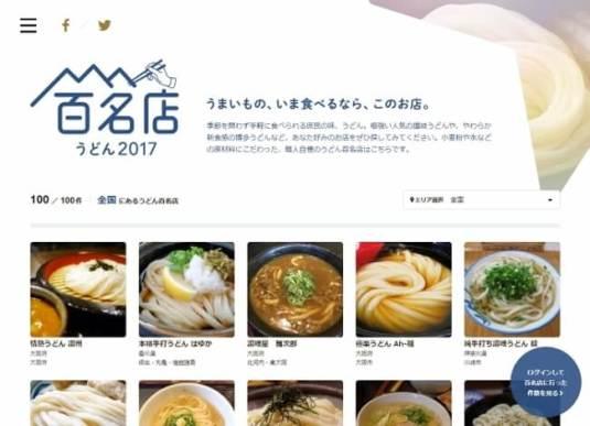 うどんの名店100店を選出!「食べログ うどん百名店」を発表 - カカクコム
