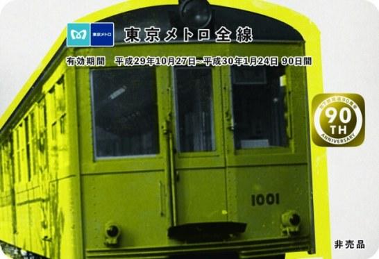 東京メトロ90日間全線パスプレゼントキャンペーン