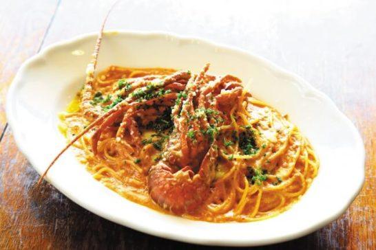 いすみ市産まるごとイセエビのトマトクリームソースのスパゲッティーニ