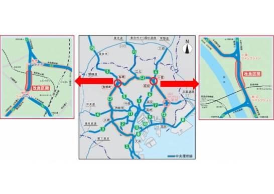 堀切・小菅ジャンクション間が2018年2月25日(日)午前5時から、板橋・熊野町ジャンクション間が2018年3月18日(日)午前5時から4車線に広がります