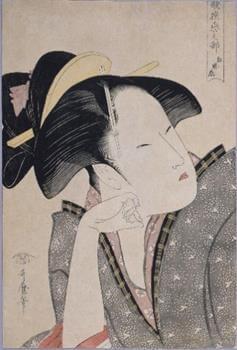 初公開「歌撰恋之部 物思恋」喜多川歌麿/画 蔦屋重三郎/版
