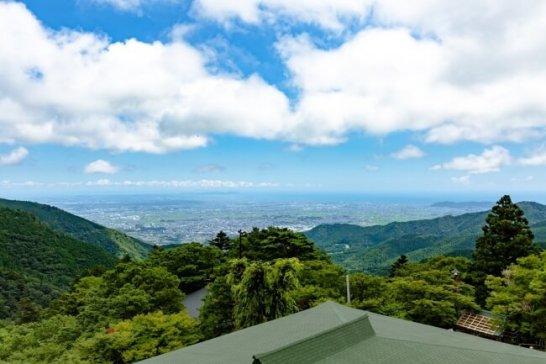 期間限定絶景カフェ「Oyama Green Cafe」からの眺望