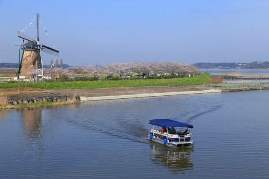 観光船による印旛沼遊覧