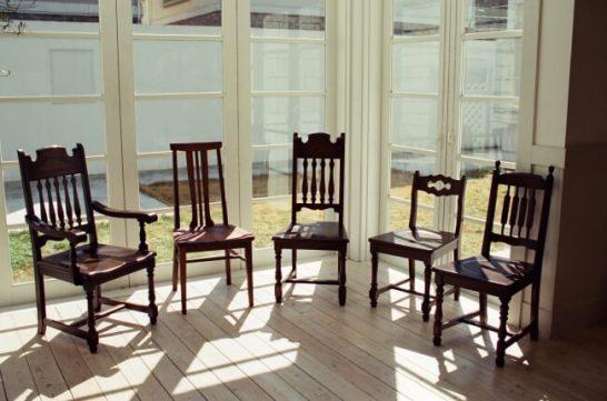 戸山の椅子 ハイバックアームチェアI、ハイバックチェアIIIウォルナット+オイル、ハイバックチェアI、チェアIIB、ハイバックチェアIIB