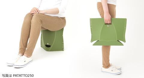 組み立て簡単、耐荷重100kgの折りたたみイス