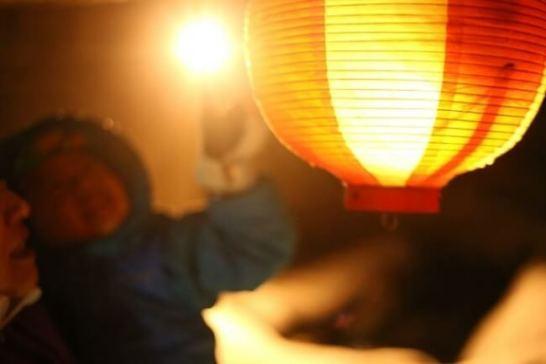 イベント「白馬岩岳〜冬の夜祭〜」の様子