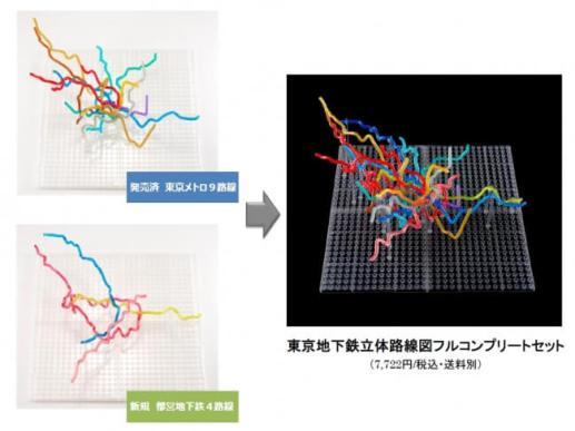 【左上:東京メトロ編 左下:都営地下鉄 右:東京地下鉄立体路線図 フルコンプリートセット】