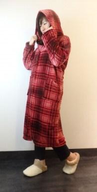mofua着る毛布 チェック柄(ロフト限定/ナイスデイ)