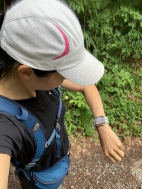 登山中にApple Watchの画面で現在地を確認できる
