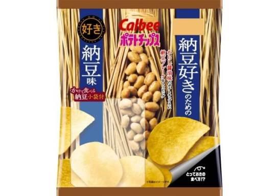 ポテトチップス 納豆好きのための納豆味 - カルビー
