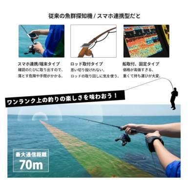 ウェアラブル魚群探知機 - ぎょぎょウォッチ!