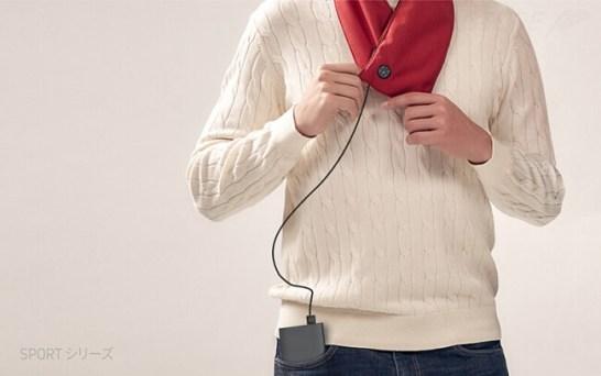 USBで発熱してポカポカ、スタイリッシュなネックウォーマー「SUSTAIN」