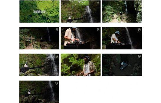 第一弾 J.A.K.A.M.さんによる武蔵御嶽神社の滝行の聖地「綾広の滝」での作品カット