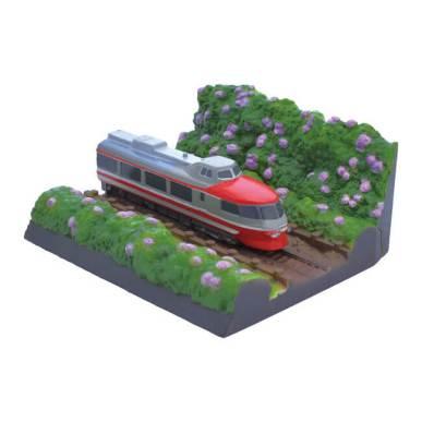 小田急ロマンスカーNSE(3100形)箱根登山鉄道/紫陽花