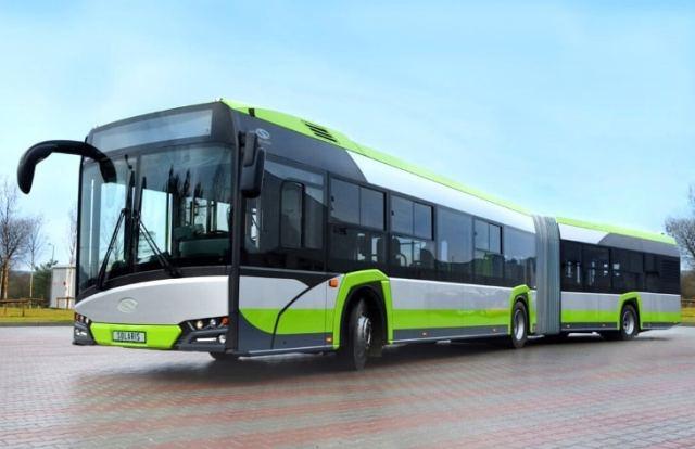В Варшаве на маршрут вышли первые электрические автобусы Urbino 18