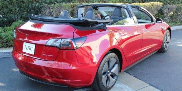 Необычный тюнинг для Tesla: а я сяду в кабриолет…