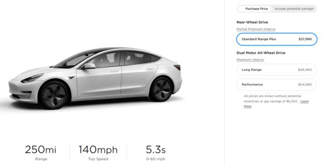Электромобили Tesla стали дешевле