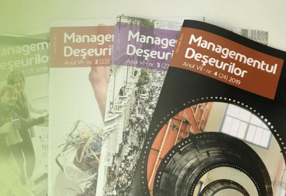 """Revista """"Managementul  Deșeurilor"""", editată trimestrial de A.O. """"Asociația pentru Valorificarea Deșeurilor"""""""