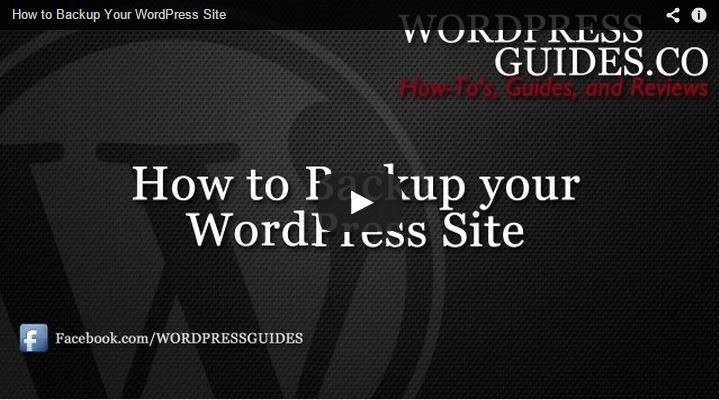 How to Backup Your WordPress Site in 5 minutes