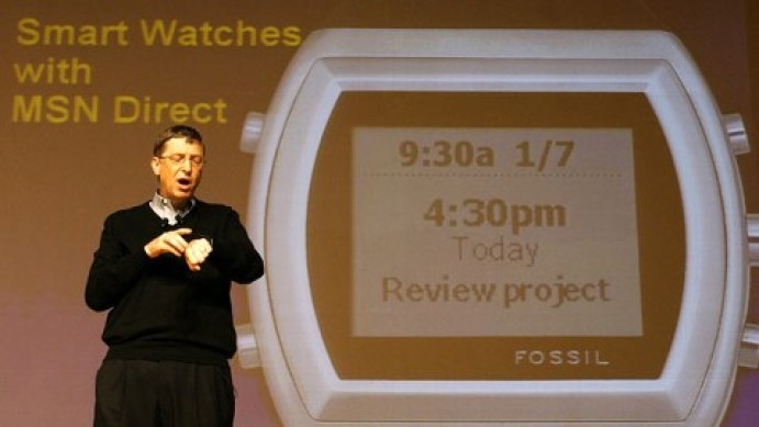 Smart watches are hardly new - here's Bill Gates showing one off in 2004—but the technology is finally mature enough for them to become mainstream.