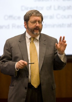 Jason R. Baron, teaching at the University of Florida with Professor Losey