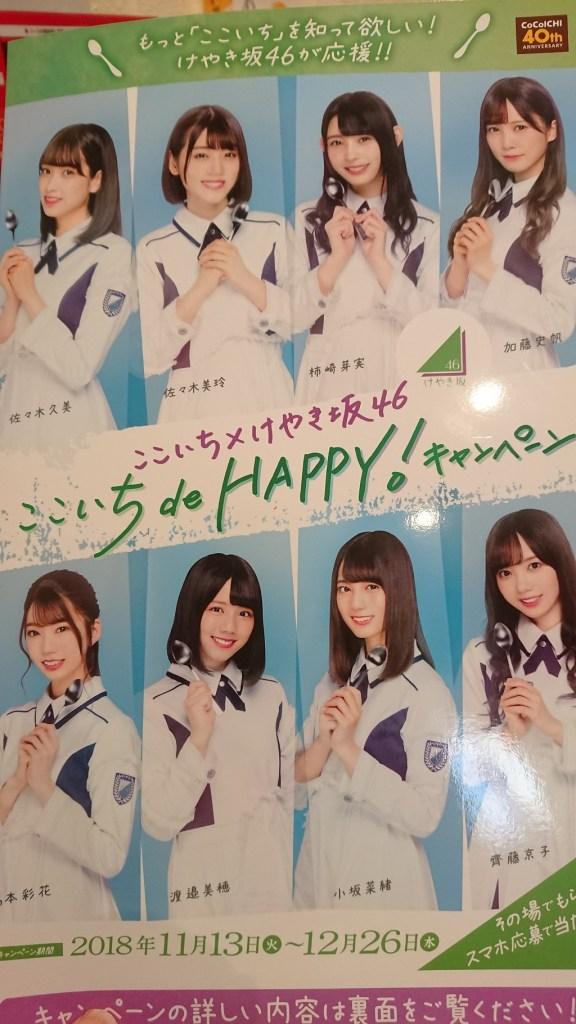 「ここいち de HAPPY!キャンペーン」でけやき坂46のクリアファイルゲット!
