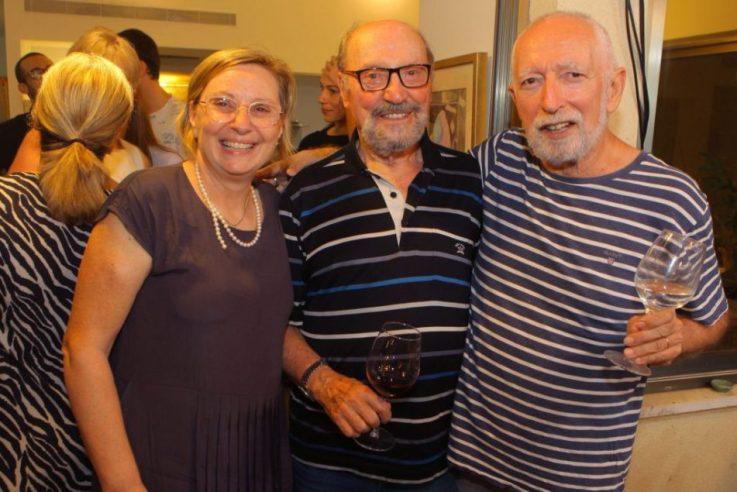 אריק וגיטה לביא עם מיכאל בן יוסף (במרכז). צילום: צילום דוד סילברמן dpsimages