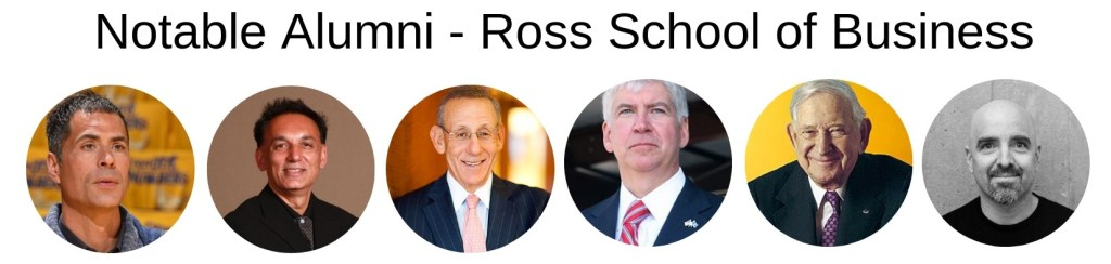 Ross School of Business - Notable Alumni