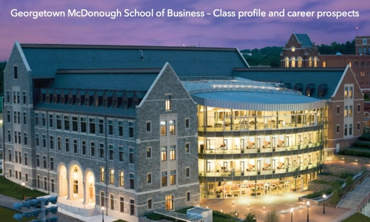 Georgetown McDonough School of Business MBA program
