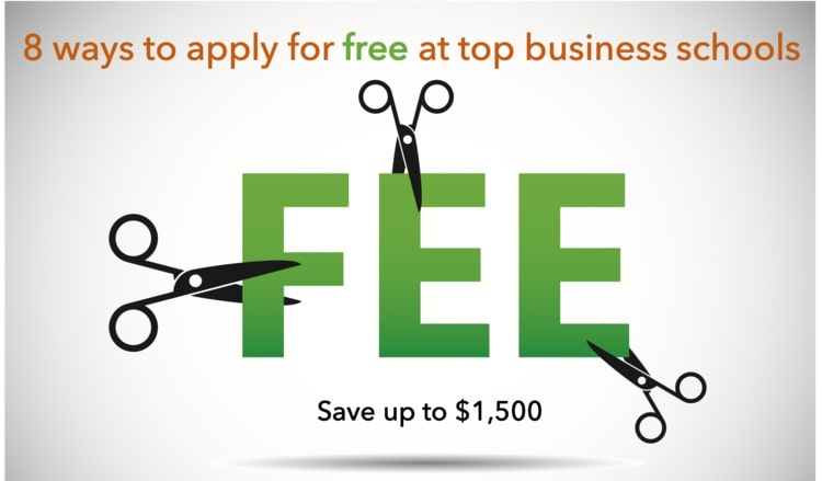 MBA application fee of business schools - Get fee waivers