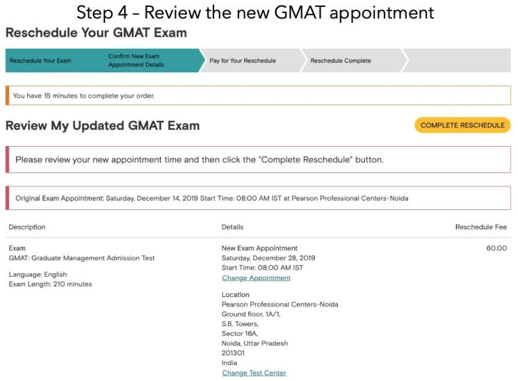 How to reschedule or cancel GMAT exam - Explained with