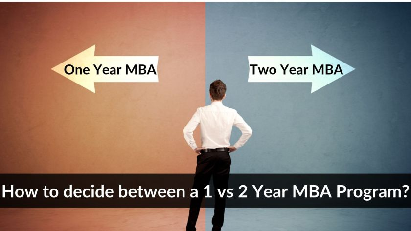 How to decide between one year MBA program vs two year MBA programs_