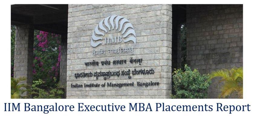 IIM Bangalore executive MBA placement report