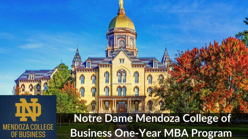 Notre Dame 1-Year MBA Program