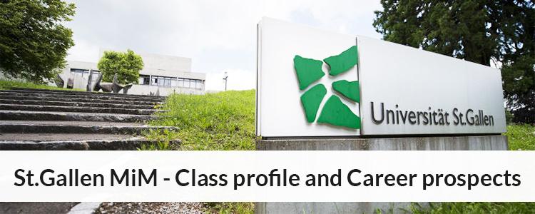 St. Gallen SIM Curriculum, Class profile, Career