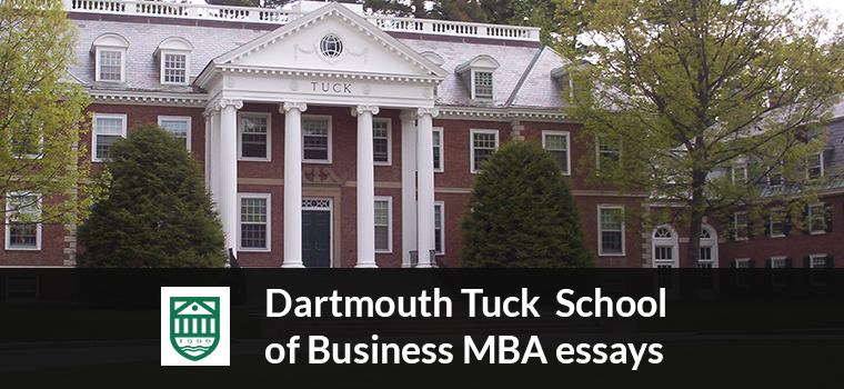 Dartmouth Tuck MBA Essay Analysis