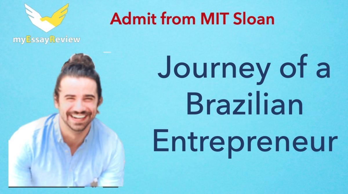 MIT Sloan admit Eduardo