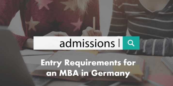entry requirements Admissions for an MBA