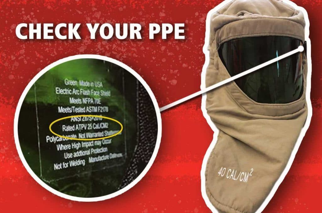 Check the Faceshield in Your ASTM F2178 Arc Flash Hood