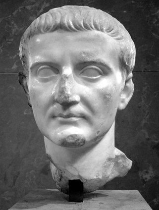 Tiberio, emperador, romano, busto, segundo