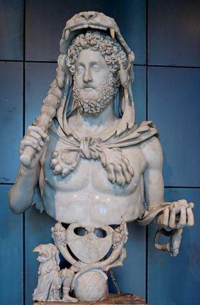 Cómodo, emperador romano, león, cachiporra, Hércules