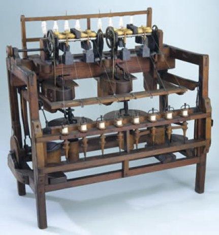 Máquina similar a la fabricada por Richard Arkwright