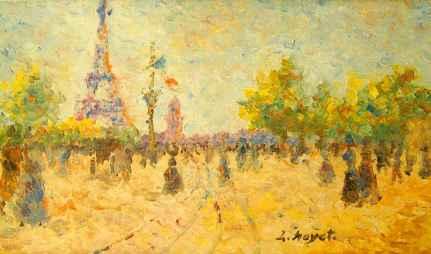 Muchas pinturas del impresionismo de cerca parecen rasgos sin órden, al alejarlos la imagen se presenta sin distorsión alguna.