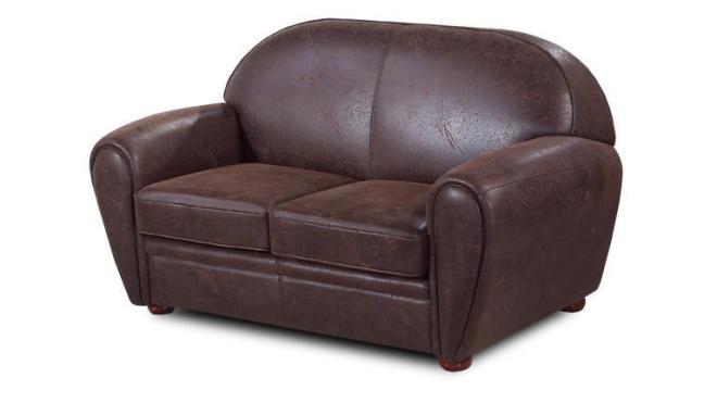 Canapé 2 places cuir vintage