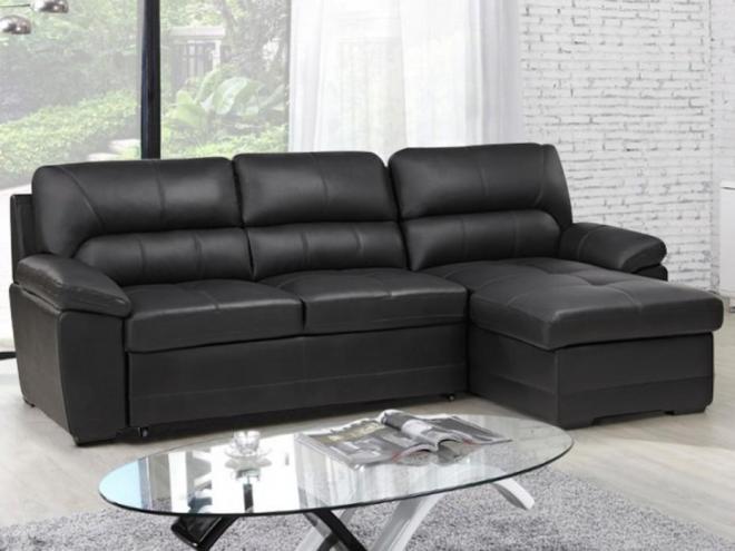 Canapé d angle convertible cuir