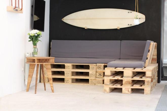 Canapé d angle palette