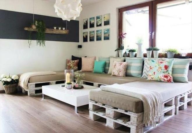 Canapé en palettes