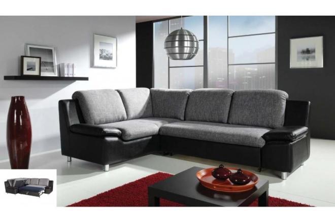 Canape cuir et tissus design