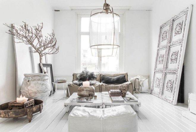 Deco blanc et bois