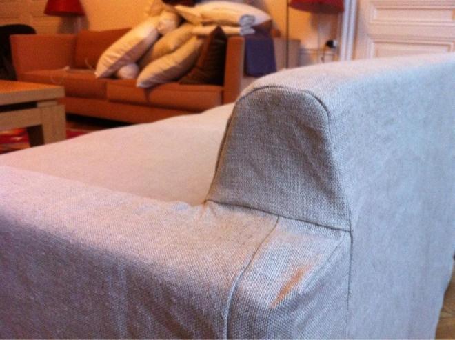 Housse canapé en lin